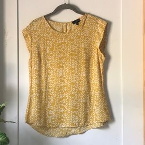 COPY - The Limited color mustard and white top.
